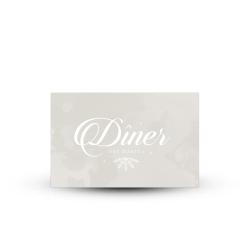Invitation repas beige, papeterie mariage hivernal