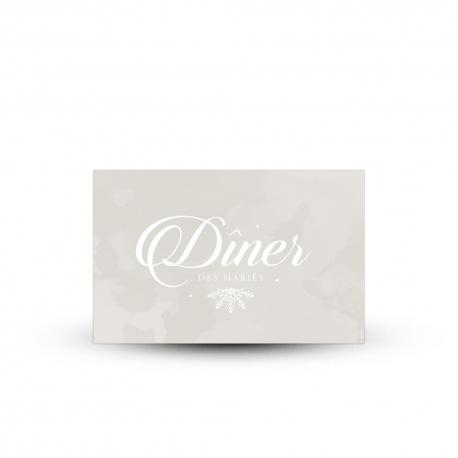 invitation repas personnalis e pour mariage hivernal et po tique. Black Bedroom Furniture Sets. Home Design Ideas