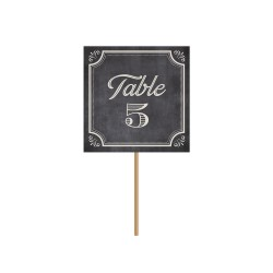 Nom de table ou numéro de table fond ardoise mariage