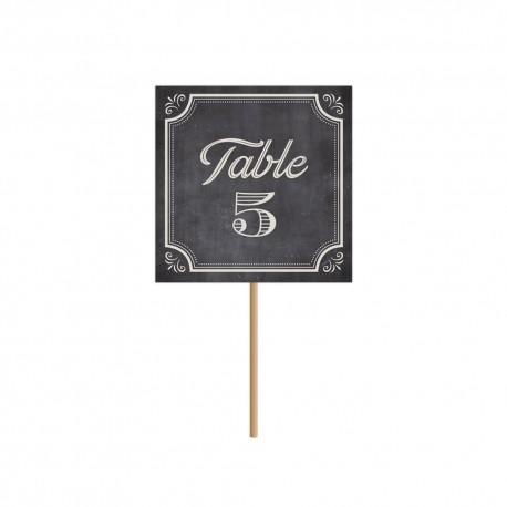 Numéro de table, nom de table pour mariage vintage et chic