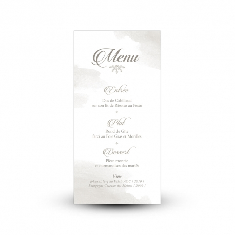 menu mariage. Black Bedroom Furniture Sets. Home Design Ideas