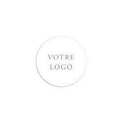 Sticker rond sur-mesure à partir de votre logo de mariés