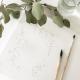 Dessin et peinture à l'aquarelle feuilles d'eucalyptus Print Your Love papeterie de mariage