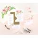 Faire-part Pivoine mariage fleuri à l'aquarelle