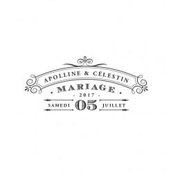 Tampon mariage rétro 1920 à personnaliser