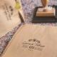 Tampon personnalisé mariage champêtre fleuri prénoms et date