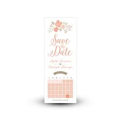 Save the date champêtre personnalisable avec ou sans photo