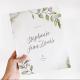 Livre d'or mariage personnalisé thème botanique végétal eucalyptus