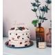 Cake topper en bois personnalisé calligraphie fine anniversaire enfant