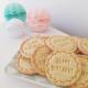 Biscuits personnalisés anniversaire couronne végétale