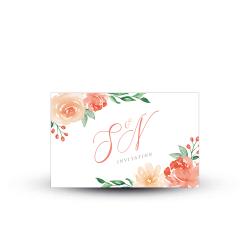 Invitation repas mariage Arche Florale