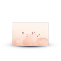 Carte réponse RSVP mariage Arche Fleurie