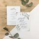 Faire part mariage végétal modèle eucalyptus aquarelle