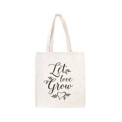 Tote bag Let love grow