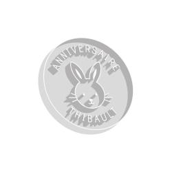 Emporte-pièce lapin anniversaire prénom