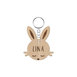 Porte-clé tête de lapin
