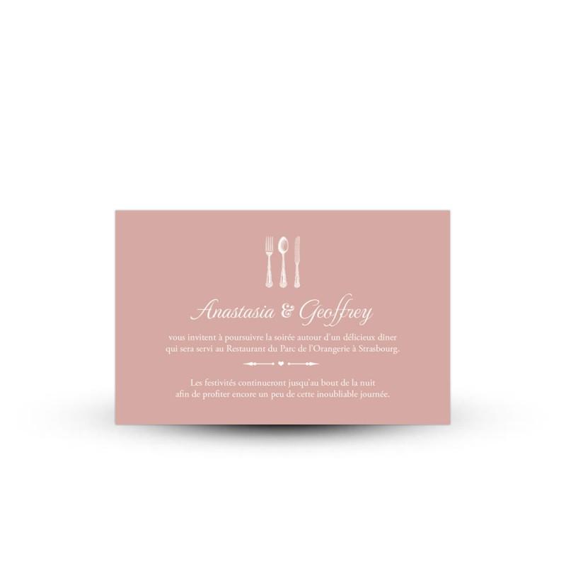 invitation repas personnalis e pour votre mariage r tro shabby chic. Black Bedroom Furniture Sets. Home Design Ideas