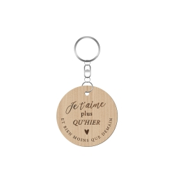 Porte-clé Je t'aime plus qu'hier