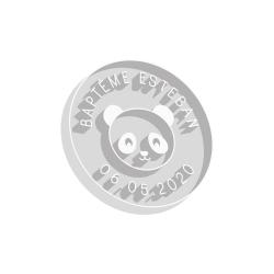 Emporte-pièce rond panda baptême