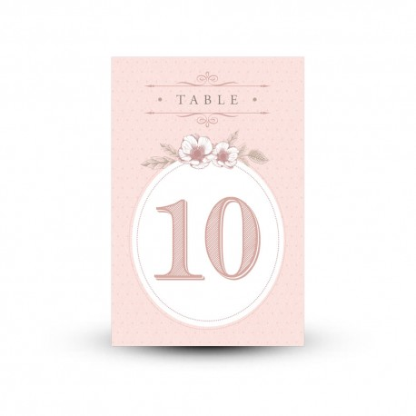 Carte nom de table personnalisée mariage Shabby Chic