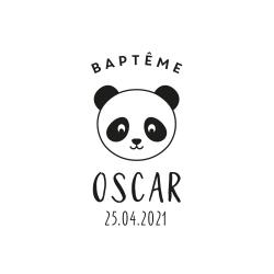 Tampon baptême tête de panda 2