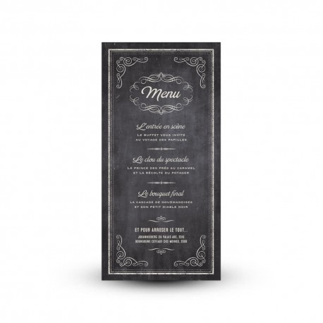 d corez vos tables de mariage avec une jolie carte de menu. Black Bedroom Furniture Sets. Home Design Ideas