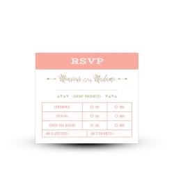 Carton réponse RSVP personnalisé mariage guinguette