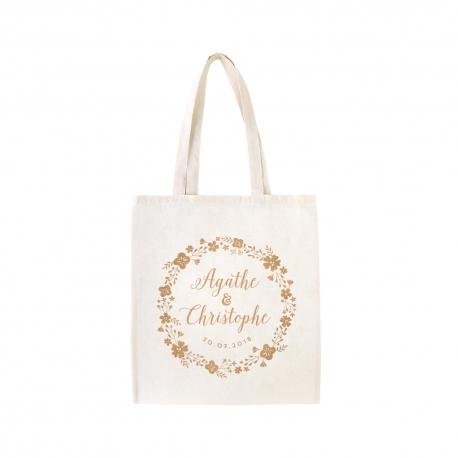 Fabuleux Tote bag personnalisé champêtre - Cadeau EVJF ou cadeaux d'invités FQ01
