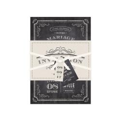 Échantillon invitation Ardoise Vintage