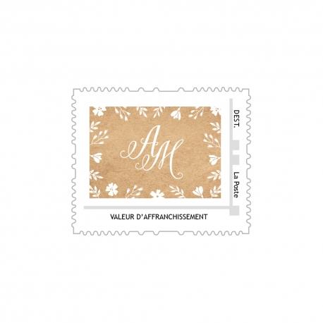 Fichier pour personnaliser vos timbres mariage avec vos initiales