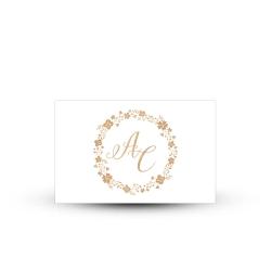 Invitation repas kraft personnalisée mariage champêtre
