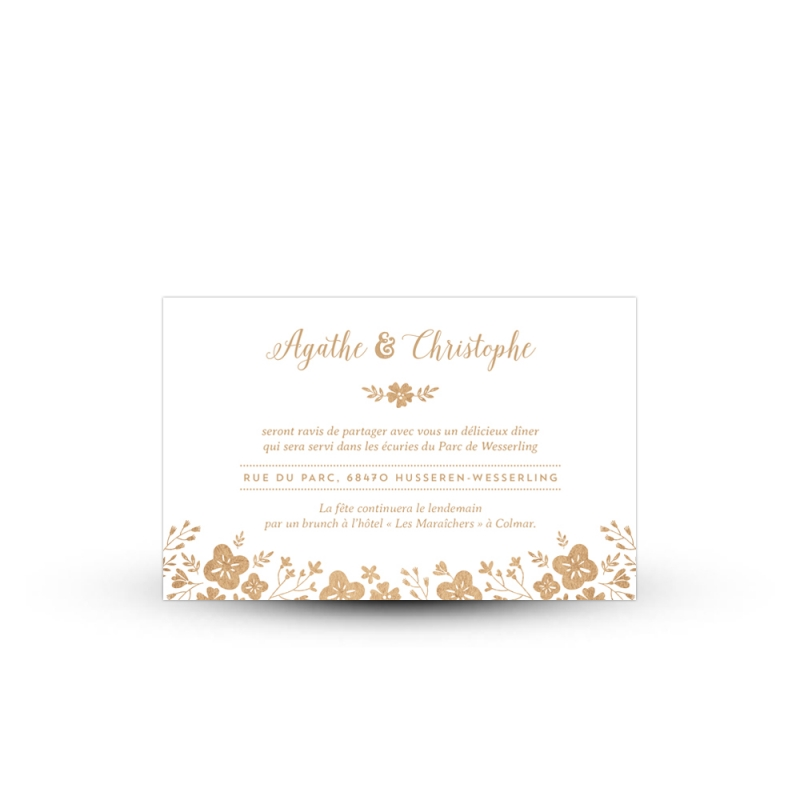 Carton invitation repas pour votre mariage champtre et fleuri invitation repas kraft personnalise mariage champtre stopboris Images