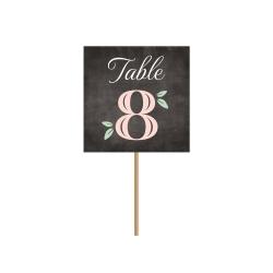 Nom de table mariage champêtre, Ardoise Fleurie