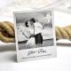 Carte de remerciement mariage personnalisée thème voyage