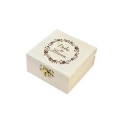 Boîte à alliances couronne de fleurs