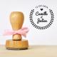 Tampon mariage personnalisé champêtre laurier