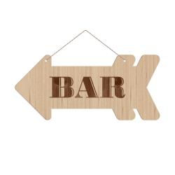 Panneau directionnel flèche Bar mariage