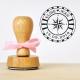 Tampon mariage personnalisable motif rose des vents Mariage voyage logo de mariés personnalisé tampon encreur