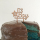 Naked cake bleu baby shower et cake topper it's a boy