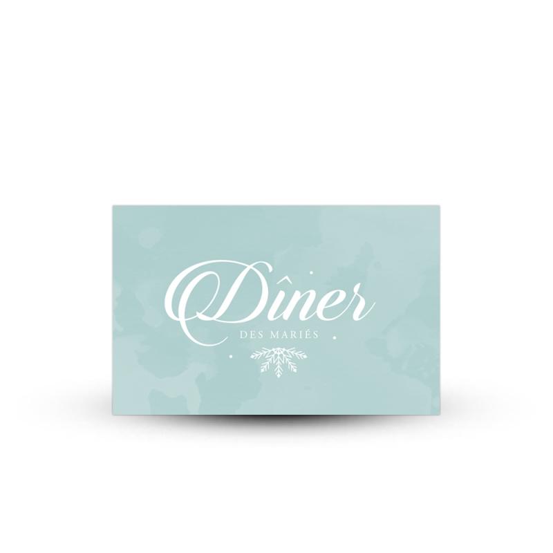 invitation repas personnalis e pour mariage hivernal et. Black Bedroom Furniture Sets. Home Design Ideas