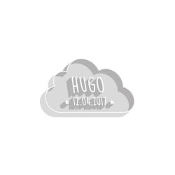 Emporte-pièce baptême personnalisé petit nuage prénom et date