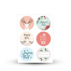 Sticker rond noël décorez vos paquets