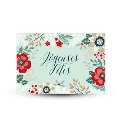Carte postale carte de voeux Joyeux Fêtes créateur france alsace