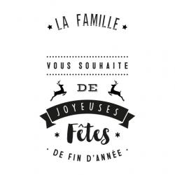 Tampon Noël joyeuses fêtes famille personnalisable