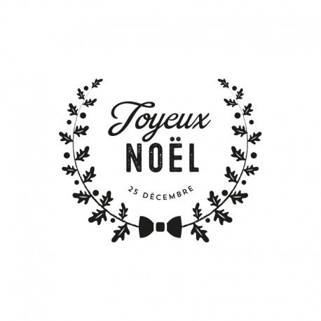 tampon joyeux noel Tampon encreur Noël original, Joyeux Noël couronne de l'Avent tampon joyeux noel