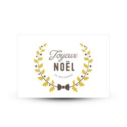 Carte de voeux joyeux noël couronne de l'avent esprit scandinave