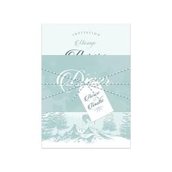 Échantillon invitation Poésie d'Hiver version bleu glacé