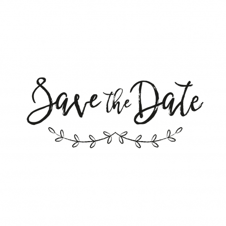 Tampon save the date branches champêtres original
