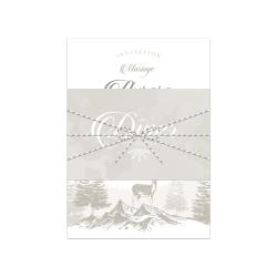 Échantillon invitation Poésie d'Hiver version beige