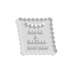 Emporte-pièce mariage personnalisé petit beurre fanions cadeaux d'invités